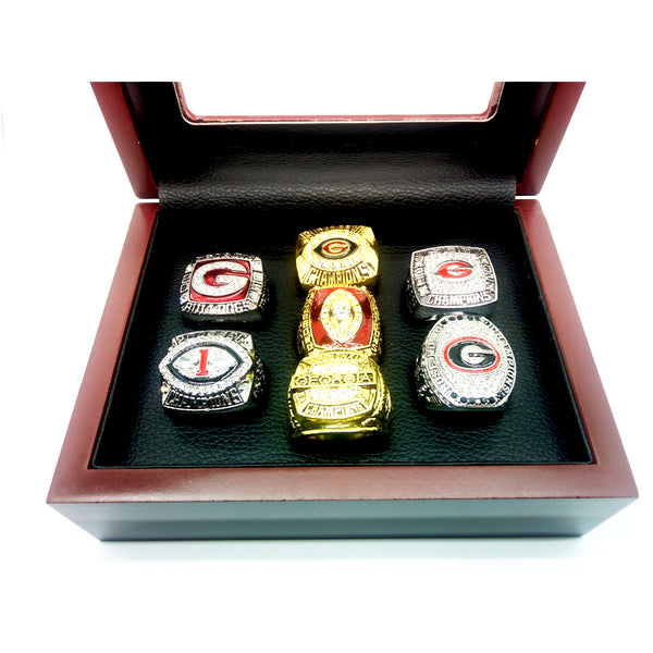 Georgia Bulldogs - Replica NCAA National Championship Rings [7 Ring Set]
