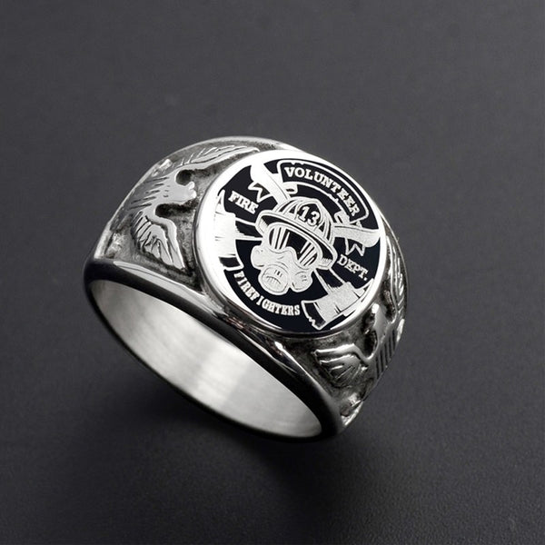 Volunteer Firefighter (Stainless Steel) Fire Department Ring
