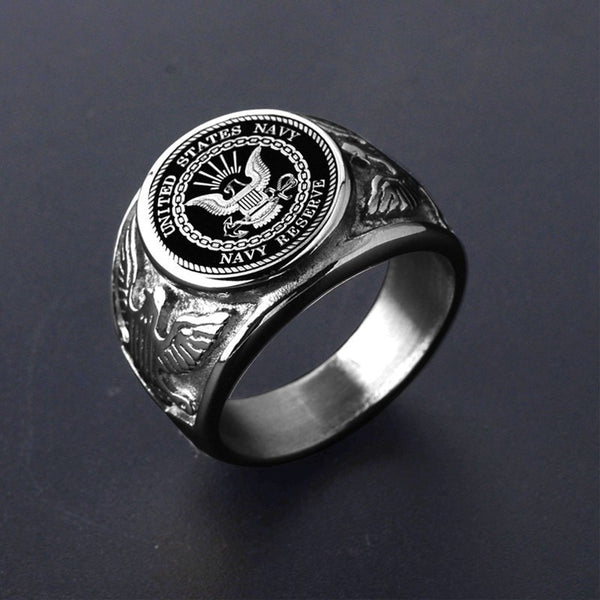 United States Navy Reverse (Stainless Steel) Navel Ring