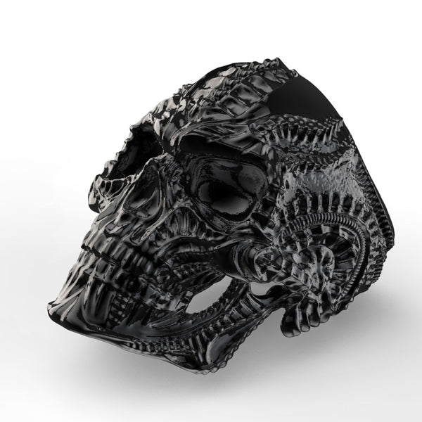 Alien Skeleton Skull Ring - 316L Stainless Steel (Black Gold Silver)