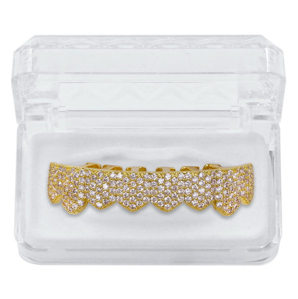 Iced Out Grillz (Custom Fit) Micro Pave Cubic Zirconia