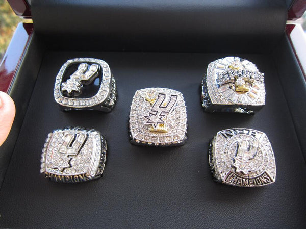 San Antonio Spurs Duncan MVP - Replica NBA Championship Rings [5 Ring Set]
