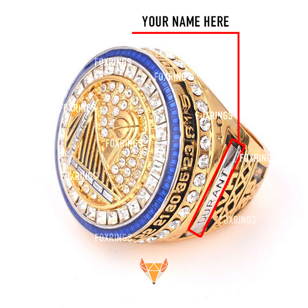 Golden State Warriors (2017) - CUSTOM NAME Replica NBA Basketball Championship Ring (Official Design)