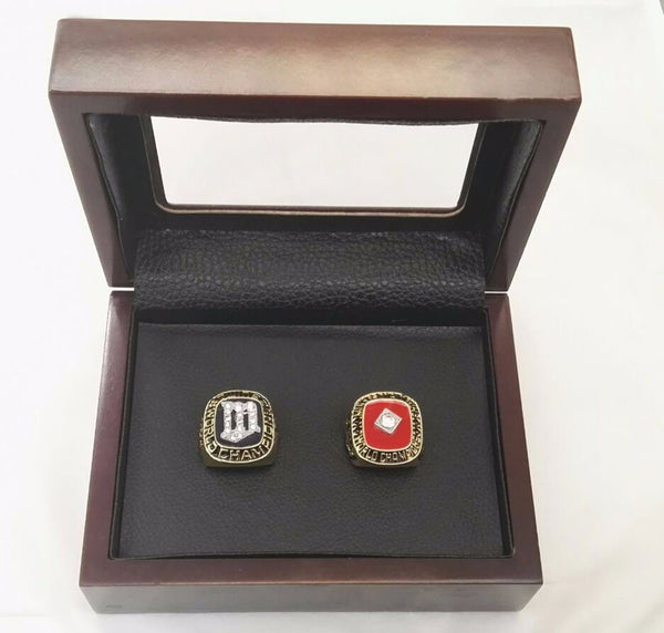 Minnesota Twins (1987 1991) - Replica MLB World Series Championship Rings [2 Ring Set]