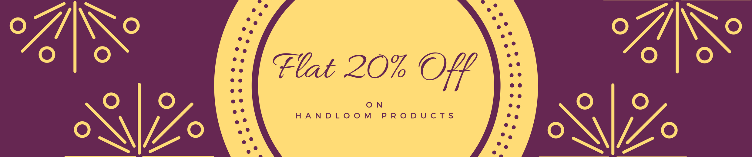 20% off on handloom products