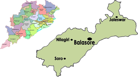 Balasore District map