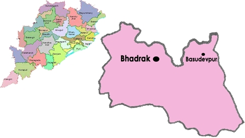 bhadrak district map