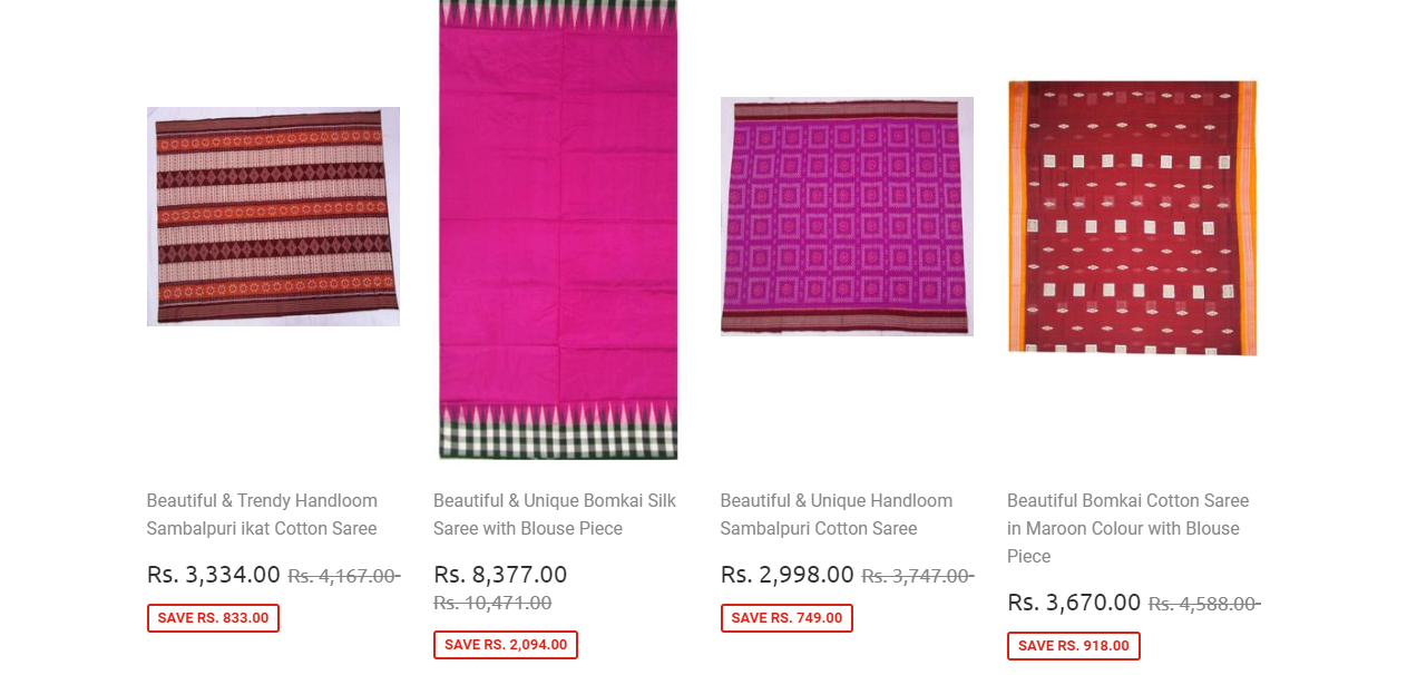 odikala products sarees cotton silk buy now online discount sale