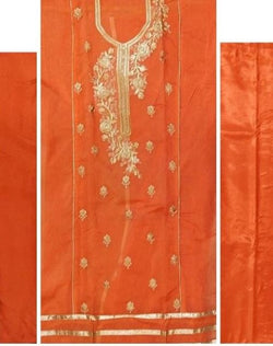 Fancy Dress Material, Unstitched with Inner