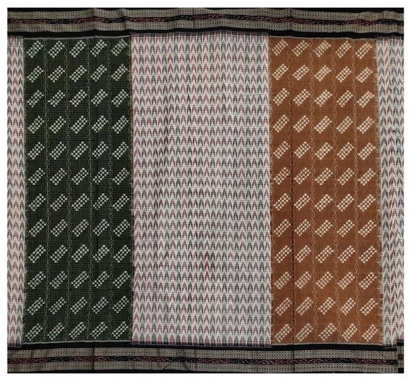 5 color pattern Sambalpuri cotton saree