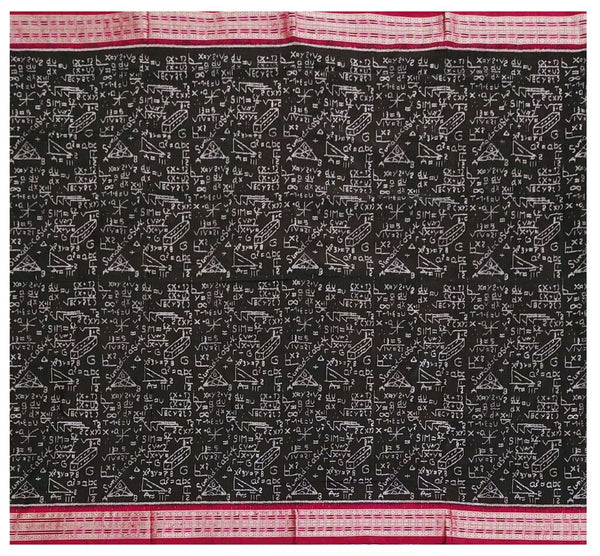 Mathematics Sambalpuri silk saree with blouse piece