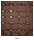OdiKala Sambalpuri Cushion cover in Saddle Brown color - Set of Two-Cushion Cover-OdiKala-OdiKala