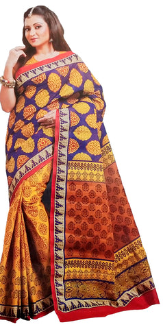 COTTON SAREE (WITH BLOUSE PIECE)-Fancy Sarees-OdiKala Fancy Store-OdiKala