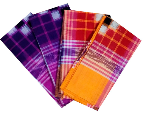 Sambalpuri Handkerchiefs, Set of 4.-Handkerchiefs-OdiKala Accessories-OdiKala
