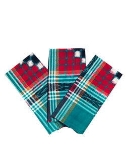 Sambalpuri Cotton Hanky, Set of 3, size-18x18