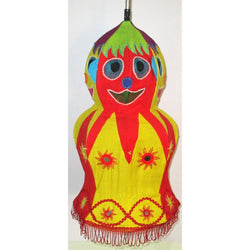 Decorative Lamp Shade (Doll)-Appliques-OdiKala Handicrafts-21 cm length and 28 cm diameter-OdiKala