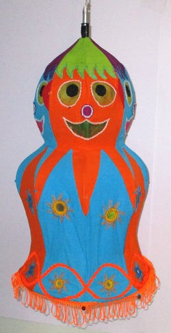 Decorative Lamp Shade ( Doll )-Appliques-OdiKala Handicrafts-21 cm length and 28 cm diameter-OdiKala
