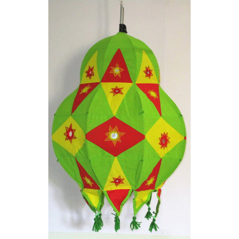 Famous Pendu Shape Roof Hanging Multi Colour-Appliques-OdiKala Handicrafts-25 cm length and 44 cm diameter-OdiKala