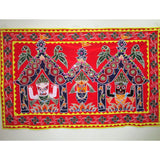 Unique colorful Temple Art Wall Hanging from Pipili-Appliques-OdiKala Handicrafts-34 cm length and 55 cm width-OdiKala