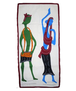 Dancing Couple Modern Art Applique-Appliques-OdiKala Handicrafts-32 cm length and 15 cm width-OdiKala