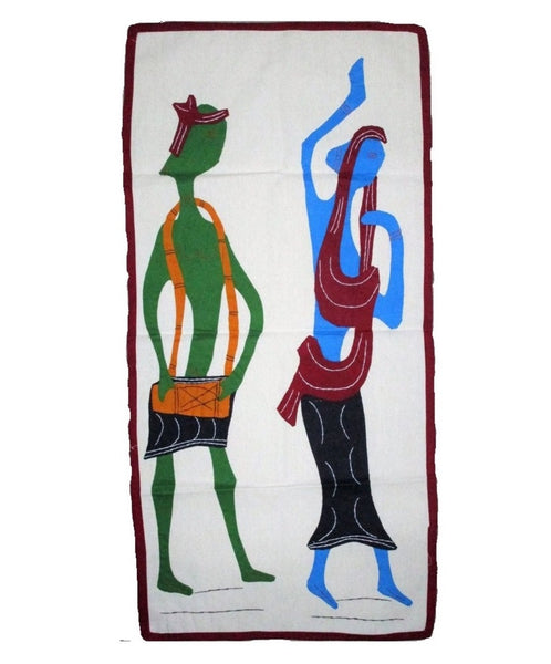 Dancing Couple Modern Art Applique