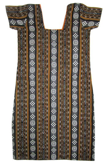 Handwoven Bomkai cotton kurti with new design, Size-34inches-Kurti-OdiKala-OdiKala