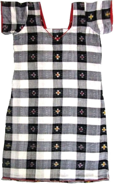 Black and white colour sambalpuri kurti, size-34inches