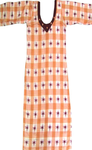 New Trendy Design Sambalpuri Handloom Cotton Kurti, Size-32inches
