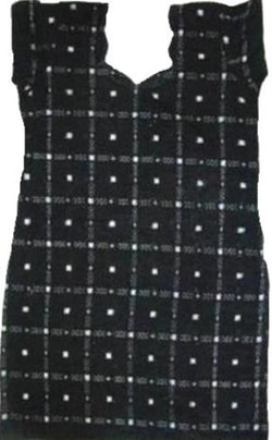 Handloom Ikat Cotton Kurti, Size 38 Inches, Black Colour