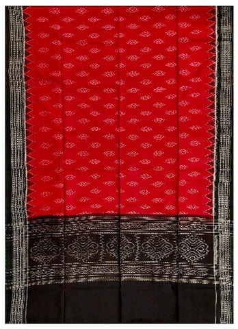 Sambalpuri Cotton Dupatta (Maroon and Black Colour)