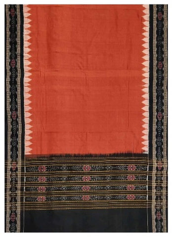 Sambalpuri Cotton Dupatta (Brick Red and Black Colours)