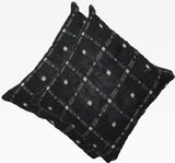 OdiKala Sambalpuri Cushion cover in Black color - Set of Two-Cushion Cover-OdiKala-OdiKala