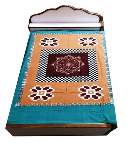 Exclusive Sambalpuri Cotton Single Bedsheet