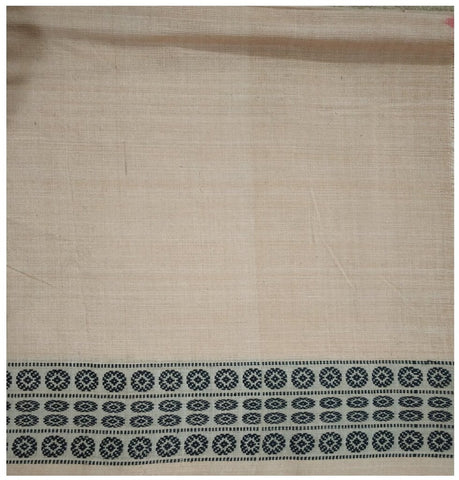 Sambalpuri Cotton Blouse piece. Off White. 1mtr