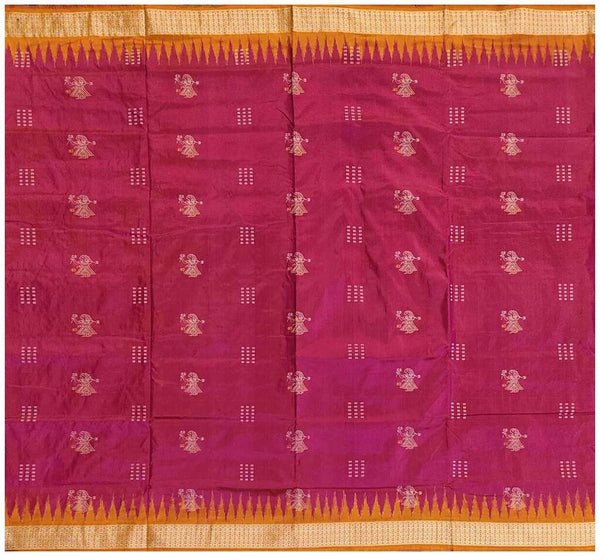 Bomkai Silk Saree with Blouse Piece