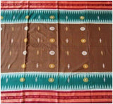 Beautiful Bomkai-Sambalpuri Fusion Cotton Saree with Blouse Piece