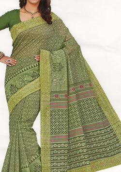 FANCY COTTON EMBROIDERY SAREE-Fancy Sarees-OdiKala Fancy Store-OdiKala