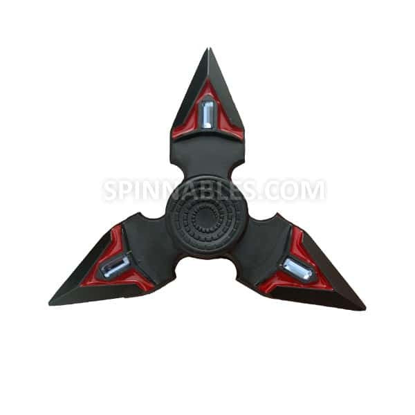 Crimson Spinnable Shuriken Fidget Spinner Toy