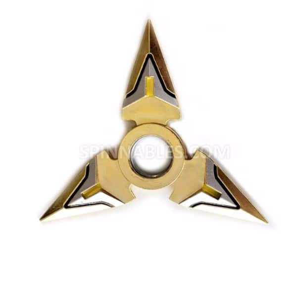 Gold and Silver Spinnable Shuriken Fidget Spinner Toy