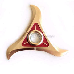 Gold Crescent Spinnable Shuriken Fidget Spinner Toy