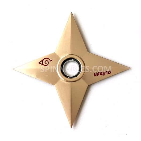 Gold Ninja Throwing Star Spinnable Fidget Spinner Toy