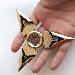 Gold Spinnable Shuriken Fidget Spinner Toy