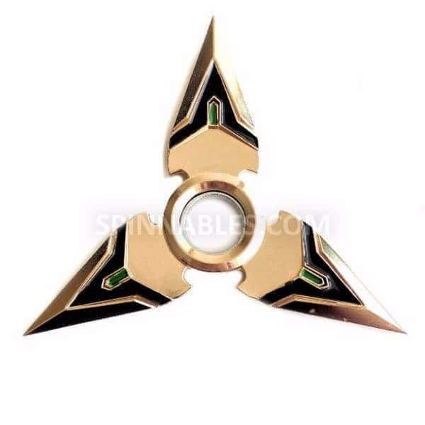 Gold Spinnable Shuriken