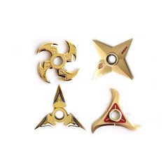 Gold Spinnable Shuriken Bundle Fidget Spinner Toy