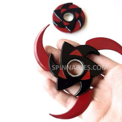 Red and Black Transforming Spinnable Fidget Spinner Toy