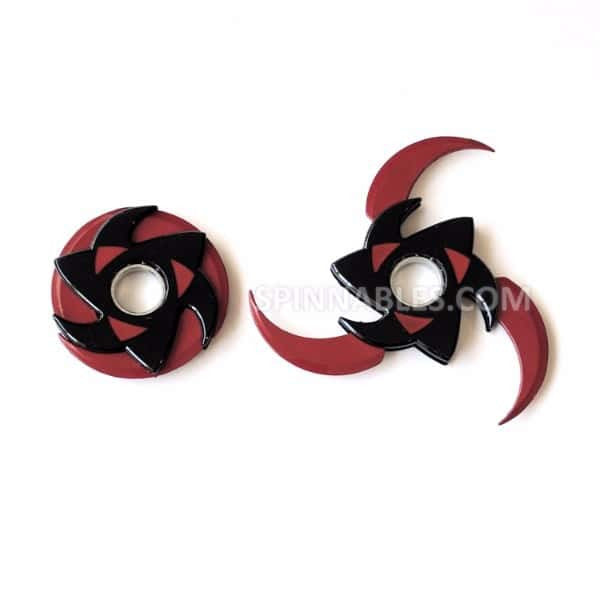 Red and Black Transforming Spinnable