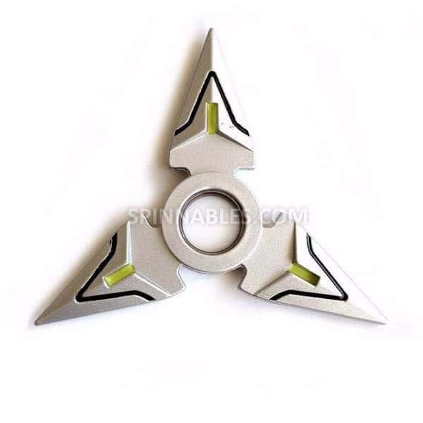 Silver Spinnable Shuriken Fidget Spinner Toy