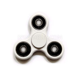 White Fidget Spinner - Ceramic Bearings