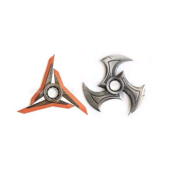 Orange/Silver Spinnable Bundle Fidget Spinner Toy