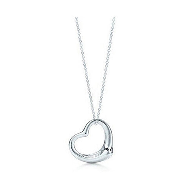 2017 HOT NOW!! New Popular High-end Jewelry Silver Jewelry Necklace Silver Plated Heart Pendant Necklace x2